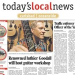 """Renowned luthier Goodall will host guitar workshop"" by Craig TenBroeck Carlsbad-Oceanside Today's Local News 01-27-2005"