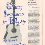 """Creating Instruments for Worship"" by Tom Krater Psalmist Magazine Vol6 Num2 April-May 1991"
