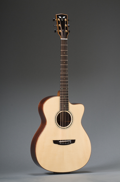 Signature East Indian Rosewood Grand Concert With Engelmann Spruce Top, Curly Koa Binding And Cutaway