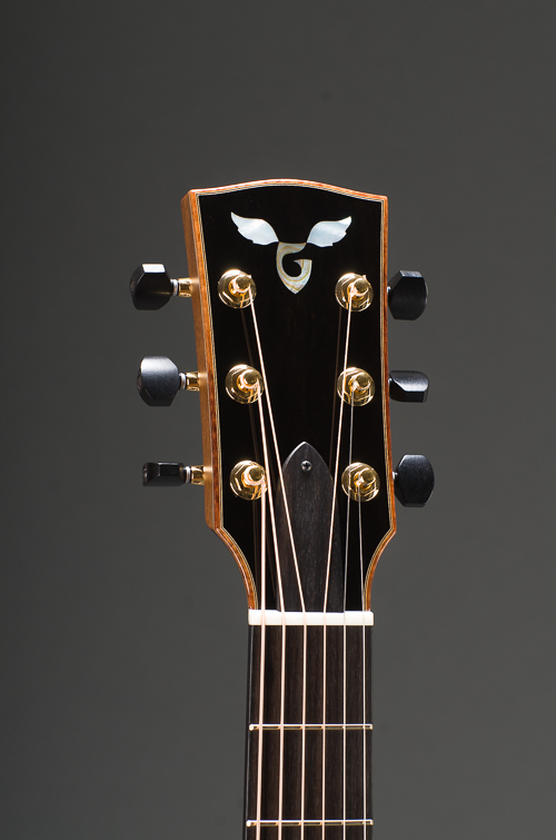 14-Fret Signature Parlor - Peghead Front