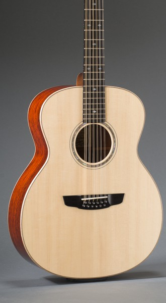 Cobobolo Rosewood Concert Jumbo 12-String With Adirondack Spruce Top And Curly Maple Binding