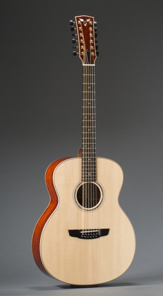 Cocobolo Rosewood Concert Jumbo 12 String With Adirondack Spruce Top And Curly Maple Binding