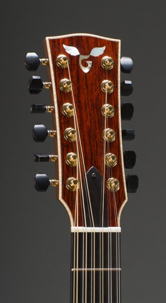 Cocobolo Rosewood Concert Jumbo 12 String With Adirondack Spruce Top And Curly Maple Binding, Gotoh 510 Tuners With Ebony Buttons