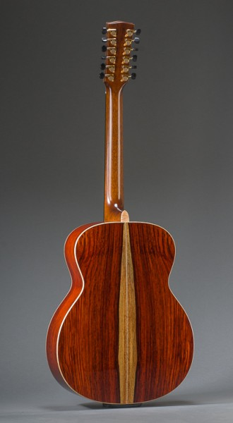 Cocobolo Rosewood (Featuring Sapwood) Concert Jumbo 12 String With Adirondack Spruce Top And Curly Maple Binding
