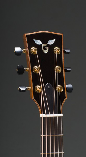"""Signature 14 Fret 25"""" Short Scale East Indian Rosewood Grand Concert With Sitka Spruce Top, Curly Koa Binding, Gotoh 510 Gold Tuners With Ebony Buttons"""