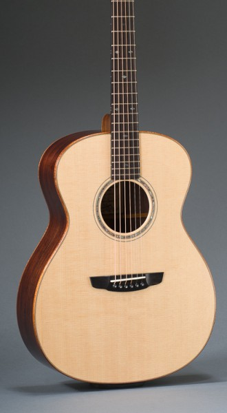 """Signature 14 Fret 25"""" Short Scale East Indian Rosewood Grand Concert With Sitka Spruce Top, Curly Koa Binding, Abalone Rosette"""