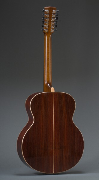 East Indian Rosewood Jumbo 12 String With Sitka Spruce Top And Curly Maple Binding