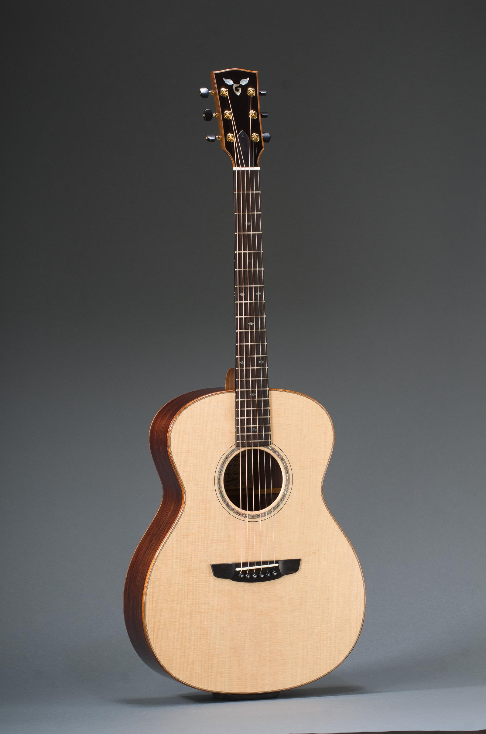 "Signature 14 Fret 25"" Short Scale East Indian Rosewood Grand Concert With Sitka Spruce Top, Curly Koa Binding, Abalone Rosette"