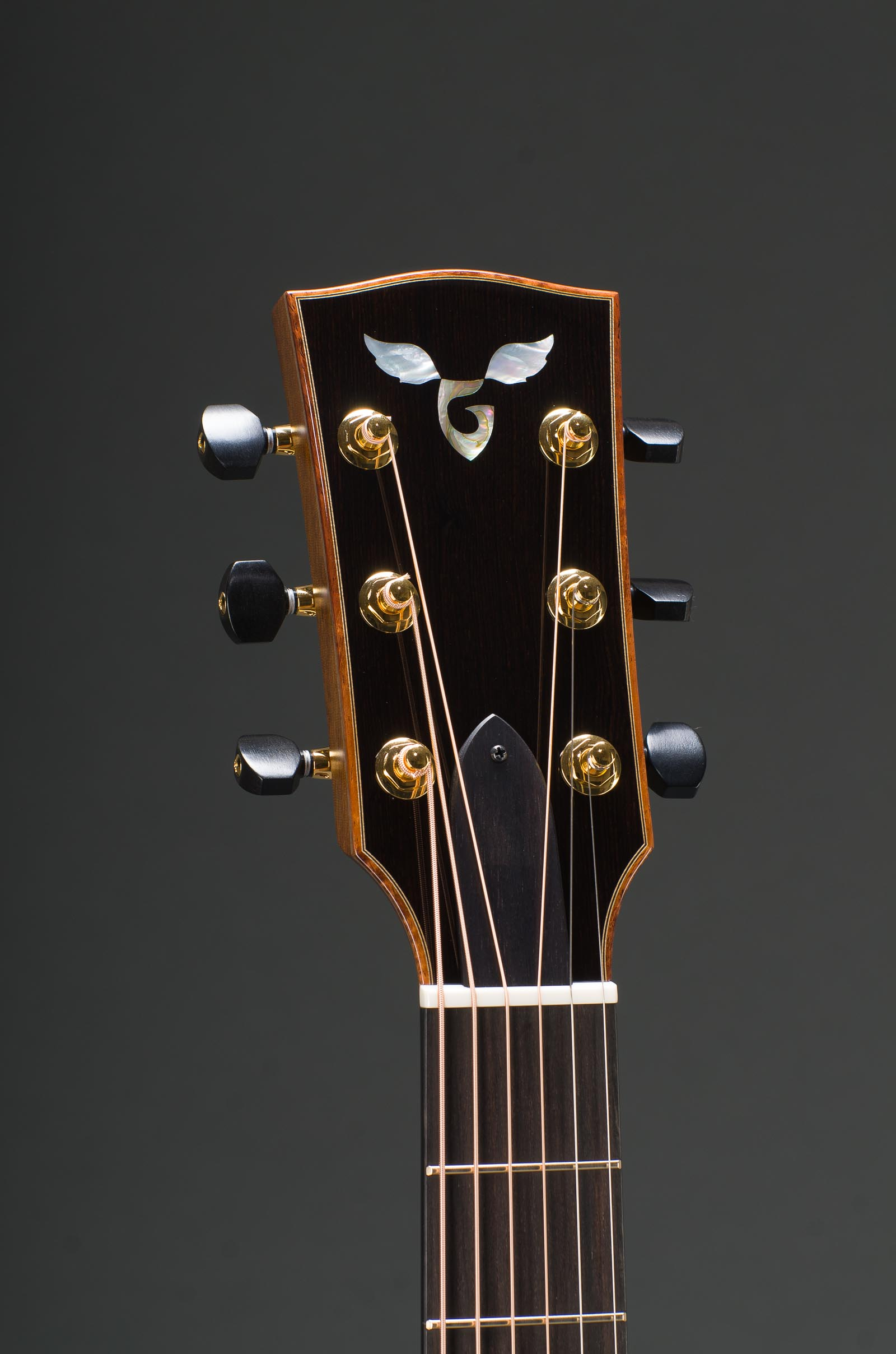 "Signature 14 Fret 25"" Short Scale East Indian Rosewood Grand Concert With Sitka Spruce Top, Curly Koa Binding, Abalone Rosette, Gold Gotoh 510 Mini tuners with ebony buttons"